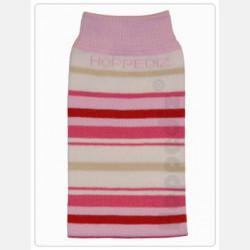 Hoppediz Baby Leg Warmers Organic Cotton White/Rosa/Pink