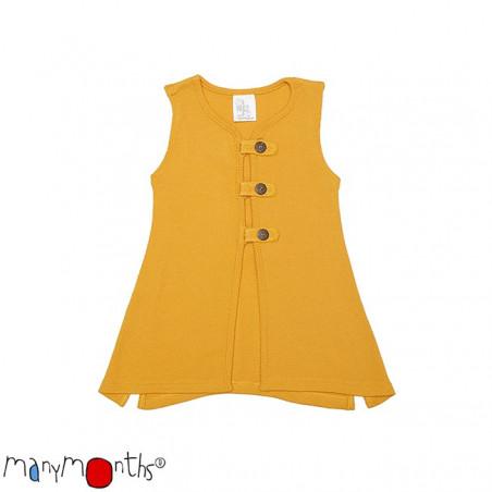 ManyMonths Wool Aquila Vest Saffron Yellow