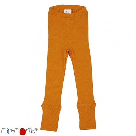 ManyMonths Wool Leggings Saffron Yellow