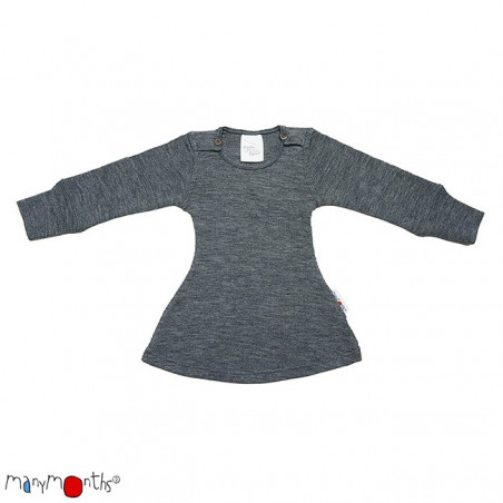 ManyMonths Wool Long Sleeve Dress Silver Grey
