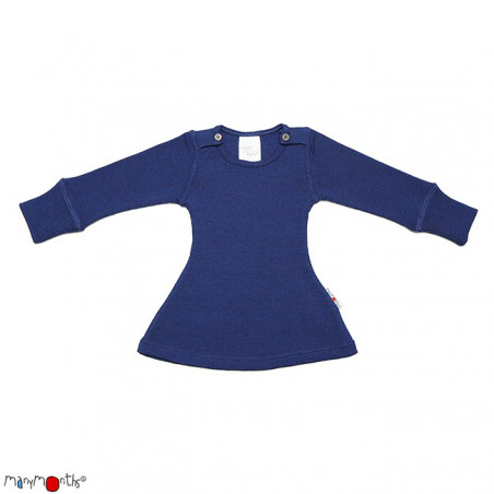 ManyMonths Wool Long Sleeve Dress Moonlight Blue
