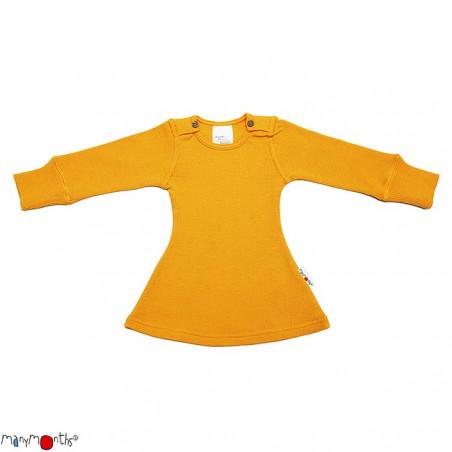ManyMonths Wool Long Sleeve Dress Saffron Yellow