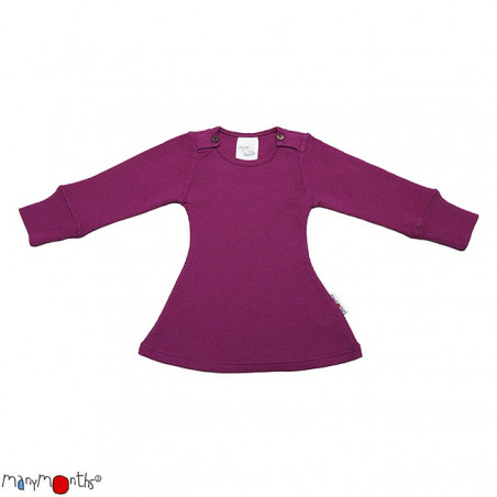 ManyMonths Wool Long Sleeve Dress Violet Lotus
