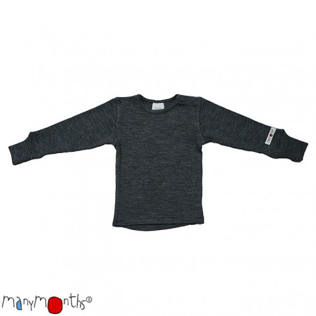 ManyMonths Wool Shirt Long Sleeve Silver Grey