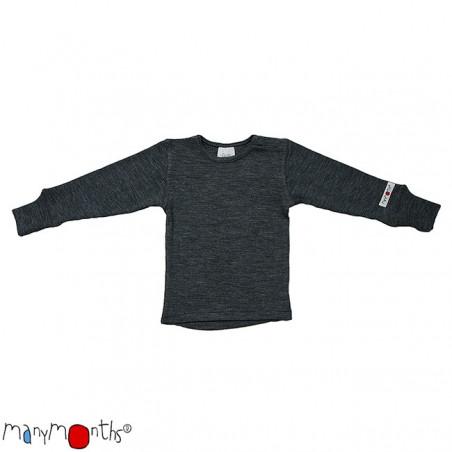 ManyMonths Wool Shirt Long Sleeve Silver Grey