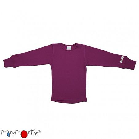 ManyMonths Wool Shirt Long Sleeve Violet Lotus