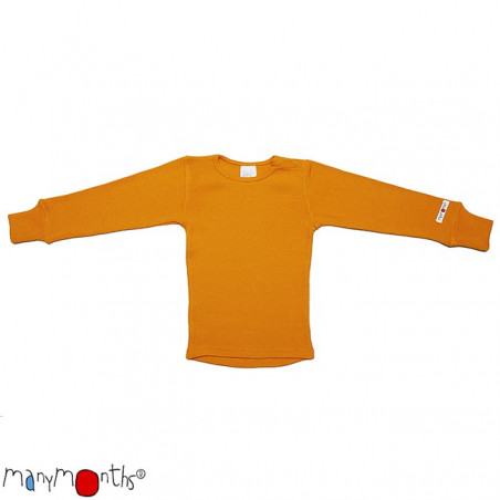 ManyMonths Wool Shirt Long Sleeve Saffron Yellow