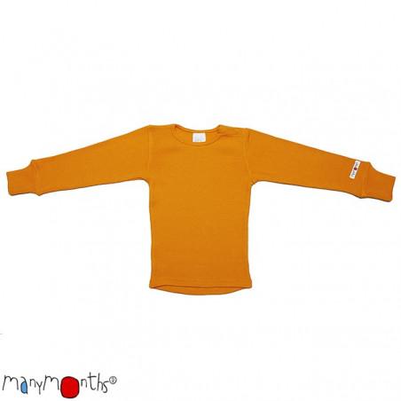 ManyMonths Wool Shirt Long Sleeve Saffron Yellow