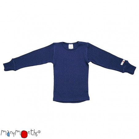 ManyMonths Wool Shirt Long Sleeve Moonlight Blue
