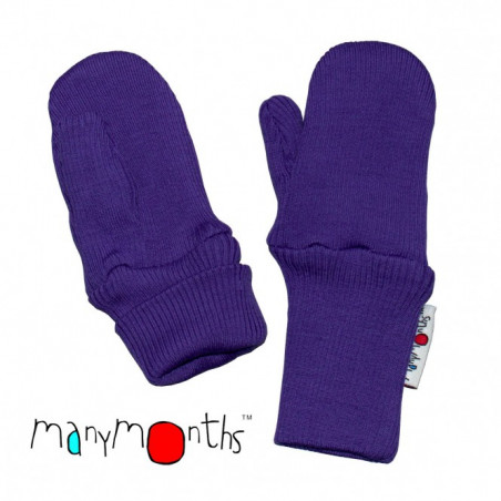 ManyMonths Wool Long Cuff Mittens Purple Peace