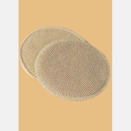 Nursing pads 2 layers silk/wool (4 pads)