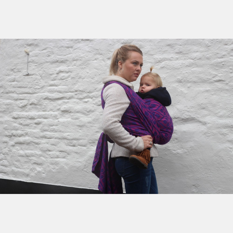 Yaro La Vita Purple-Pink Wool Ring Sling