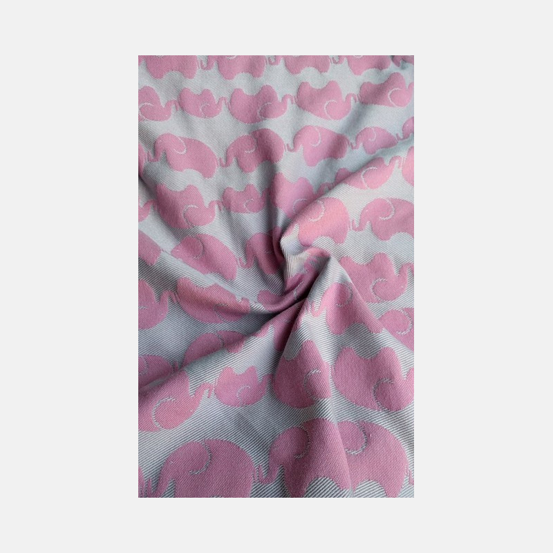 Yaro Elephants Silver Pink Wool