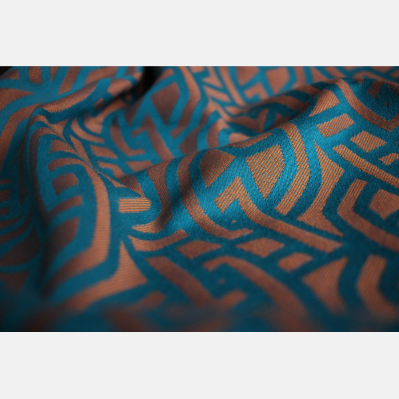 Yaro Braid Teal Orange Wool