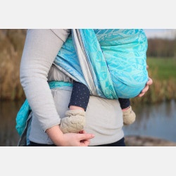 Yaro Four Winds Aqua Grad Natural Hemp Ring Sling