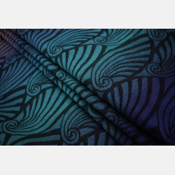 Yaro Dandy Aqua Grad Black Wool Blend