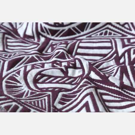 Yaro Urban Geo Puffy Burgundy White Wool Ring Sling
