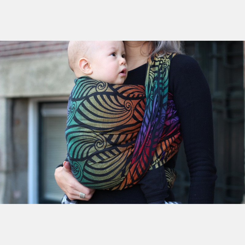 Yaro Dandy Black Autumn Rainbow Ring Sling