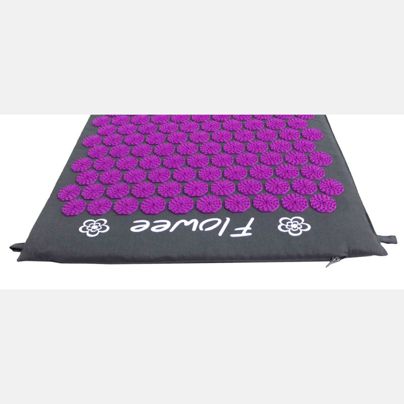 Flowee Acupressure Mat Grey Purple - Large
