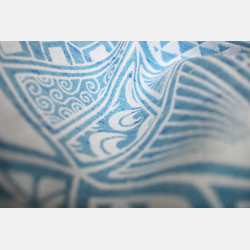 Yaro Geodesic Contra Blue White Wool Tussah Ring Sling