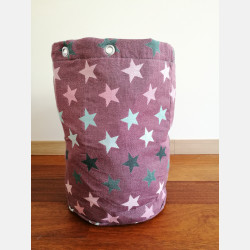 Yaro Storage Bin Large - Stars Ultra Black Rose Mint Dark