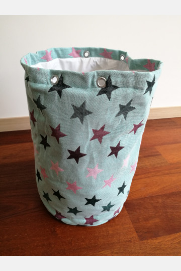 Yaro Storage Bin Large - Stars Ultra Black Rose Mint Light
