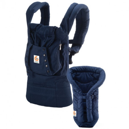 ERGO Baby Carrier Bundle of Joy - Organic Navy with Navy Insert