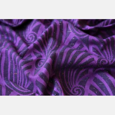 Yaro Dandy Purple Black Tencel Confetti Ring Sling