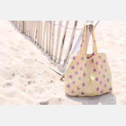 Yaro Shopper - Stars Ultra Yellow Purple Confetti