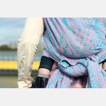 Yaro Geodesic Contra Pink Blue Modal Ring Sling