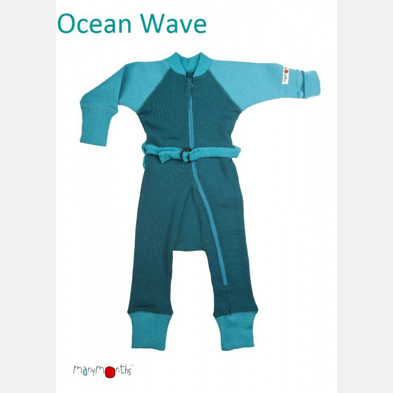 ManyMonths Wool One Piece Suit Ocean Wave