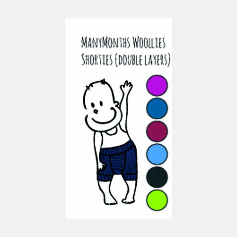 ManyMonths Wollen Shortie Purple Peace