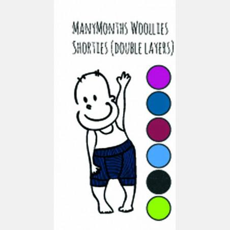 ManyMonths Wool Shorty Purple Peace