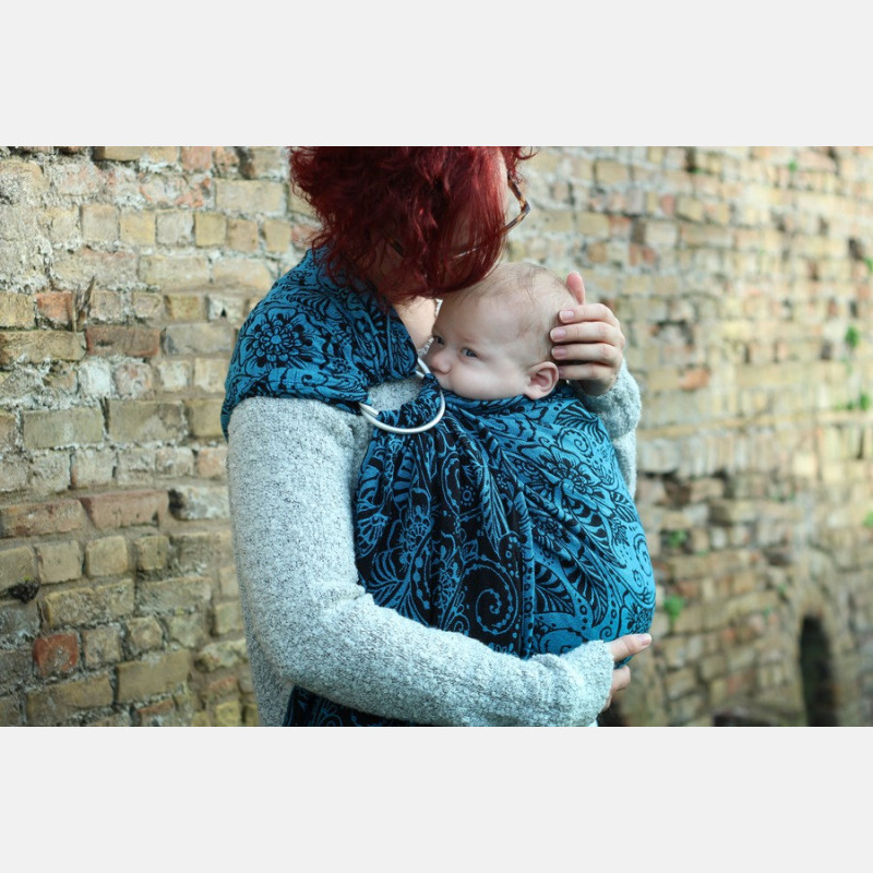Yaro Ava Contra Black-Blue Glam Ring Sling