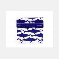 LunchSkins Velcro Sandwich Bag - Navy Shark