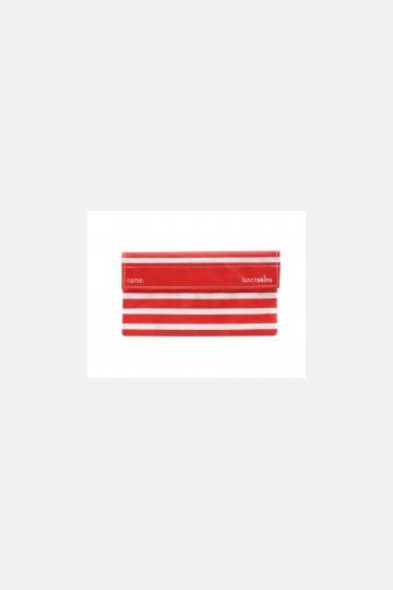 LunchSkins Velcro SnackBag - Navy Stripe