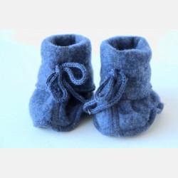 Engel Baby Bootees - Blue Melange