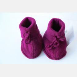 Engel Baby Bootees - Berry Melange