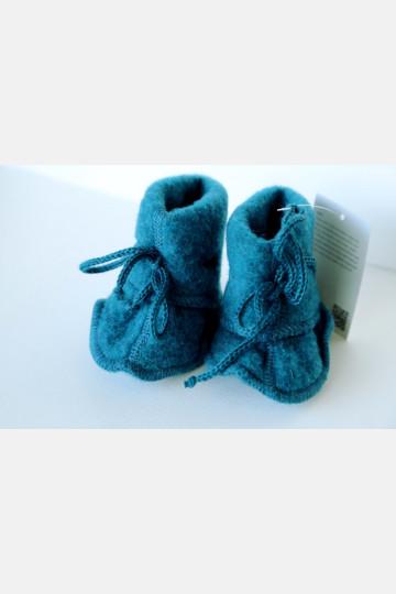 Engel Baby Bootees - Teal Melange