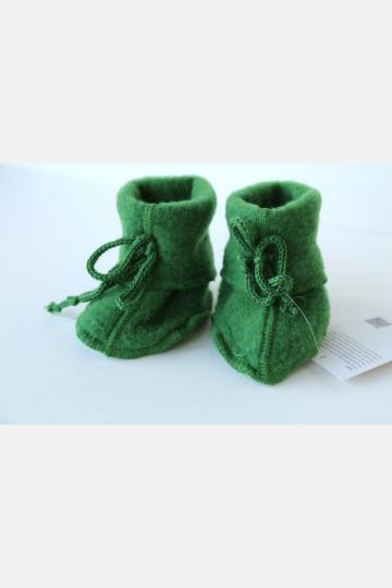 Engel Baby Bootees - Green Melange