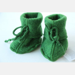 Engel Baby Slofjes - Green Melange