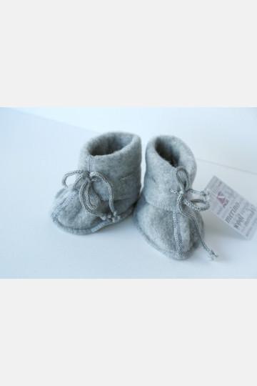 Engel Baby Bootees - Grey Melange