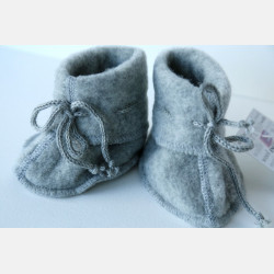 Engel Baby Slofjes - Grey Melange