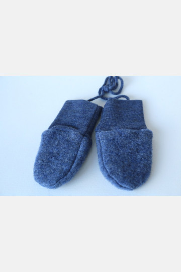 Engel Baby Mittens - Blue Melange