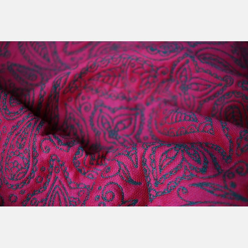 Yaro Lace Contra Violet Petrol Wool Ring Sling