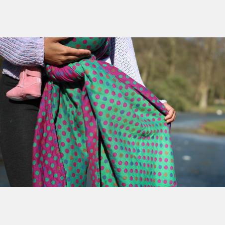 Yaro Polka Dot Ultra Purple Green Tencel Modal Ring Sling