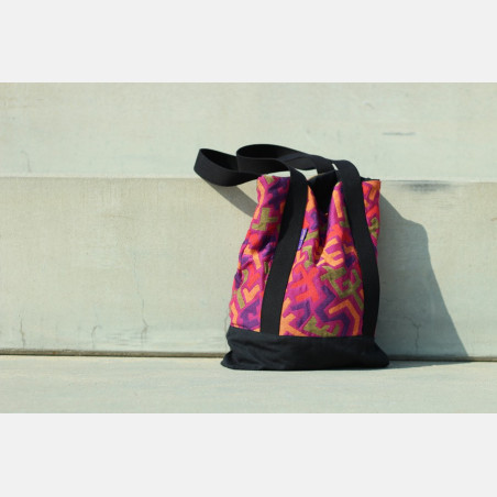 Yaro Tote Bag - Harlequin Ultra Violet Yellow Tencel