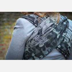 Yaro Cats Black White Wool Organic Ring Sling