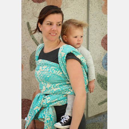 Yaro Chrys Puffy Aqua Natural Hemp Ring Sling