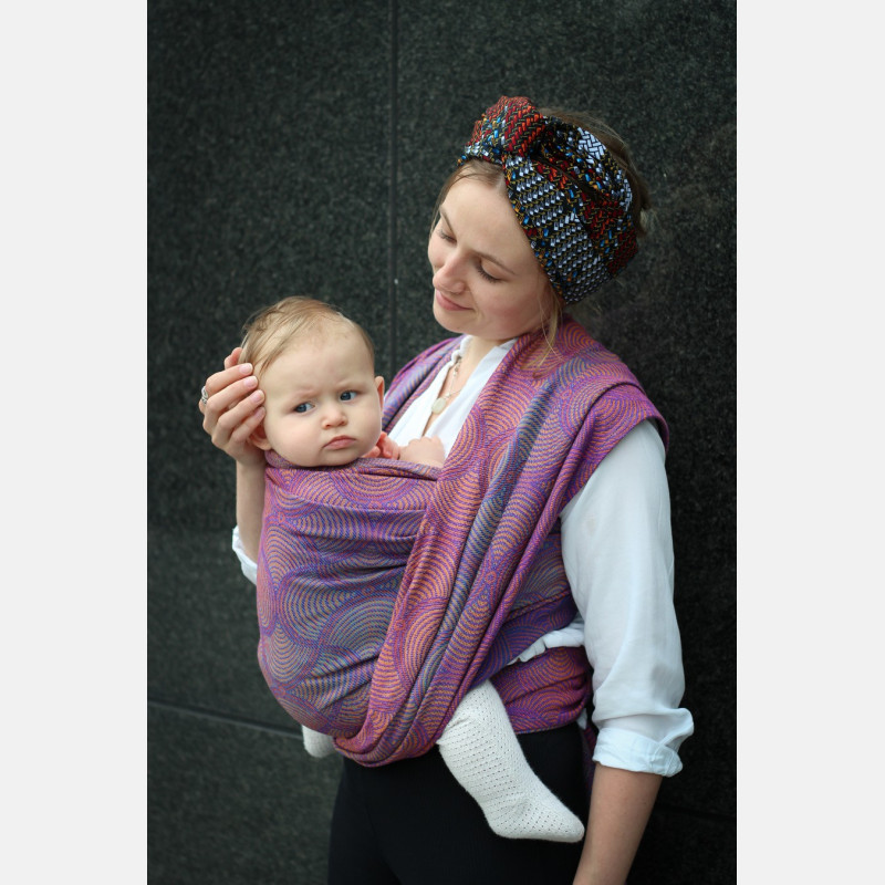 Yaro Gravity Duo Aqua Grad Orange Violet Tencel Ring Sling